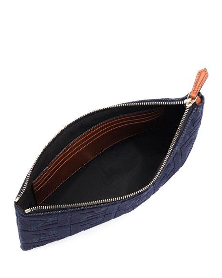 Fendi Medium FF Jeans Reactive Flat Pouch Bag