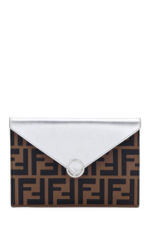 Fendi F Is Fendi Busta Calf Envelope Wallet