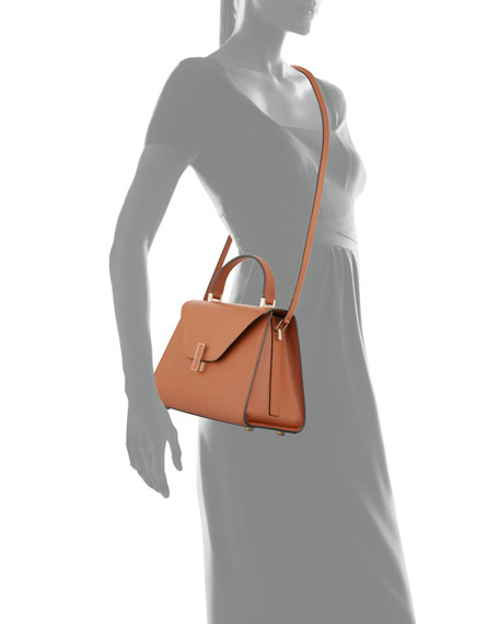 Valextra Iside Leather Top-Handle Bag