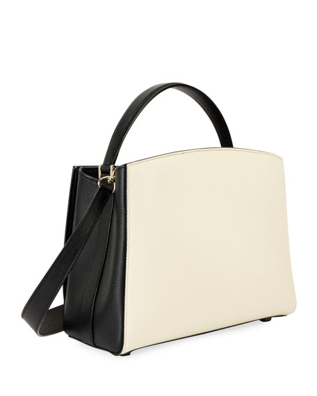 Valextra Borsa Media Two-Tone Top-Handle Bag