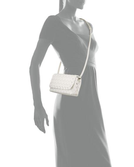 Bottega Veneta Mini Full Flap Intrecciato Crossbody Bag