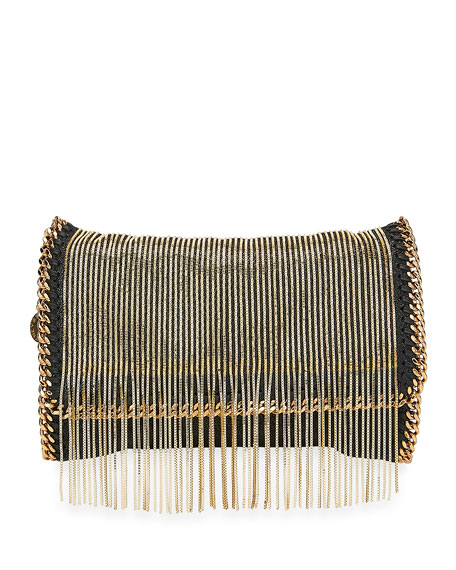 Stella McCartney Falabella Fringe-Chain Crossbody Clutch Bag