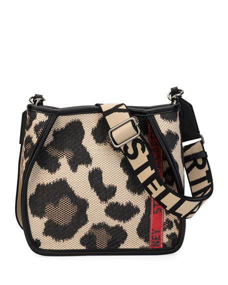 Stella McCartney Mini Leopard Logo Crossbody Bag