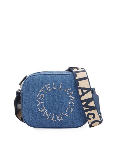 Stella McCartney Mini Denim Logo Camera Bag