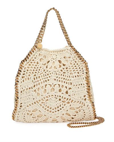 Falabella Mini Crochet Ajouree Tote Bag
