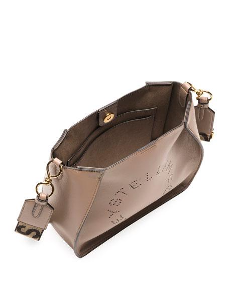 Stella McCartney Mini Perforated Logo Alter Napa Crossbody Bucket Bag