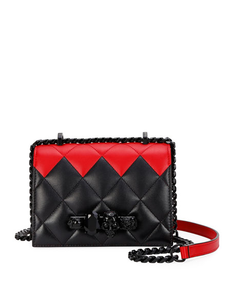 Alexander McQueen Bicolor Jeweled Small Satchel Bag