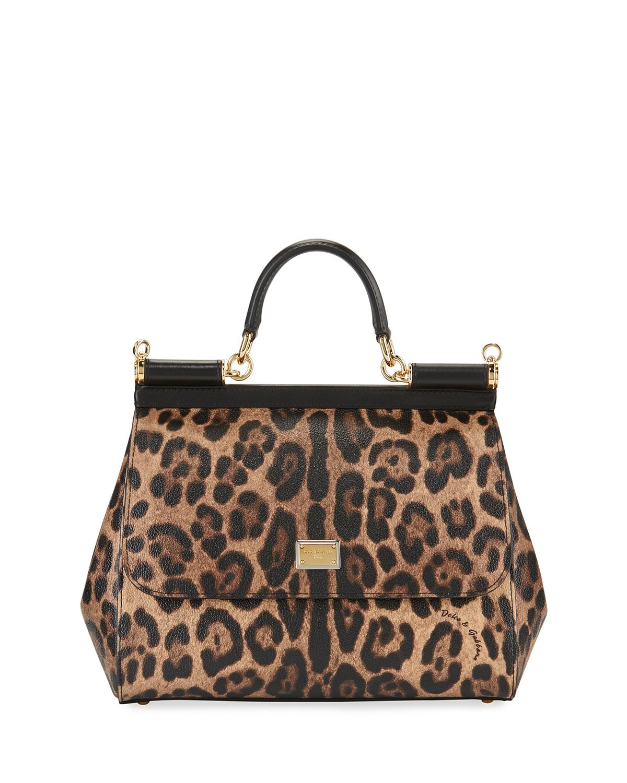 Leopard Print Satchel Bag Neiman Marcus