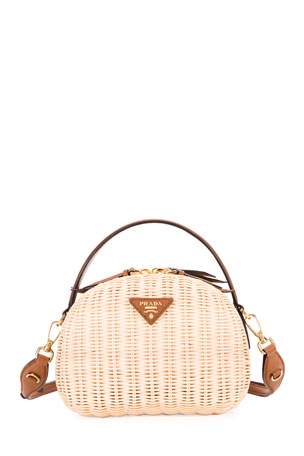 Prada Midollino Odette Top Handle Bag