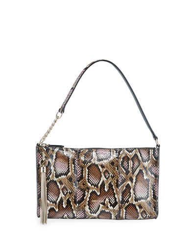 Callie Mini Elaphe Snakeskin Shoulder Bag