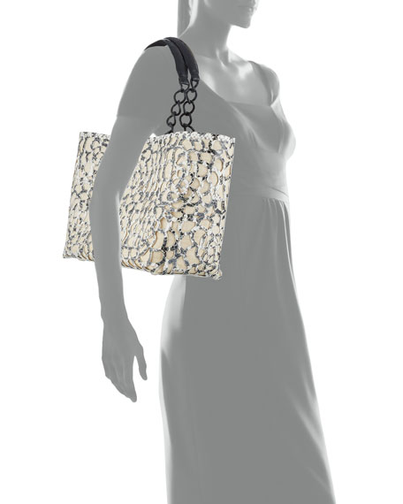 Image 4 of 4: Nancy Gonzalez Limited-Edition Small Camellia Tote Bag