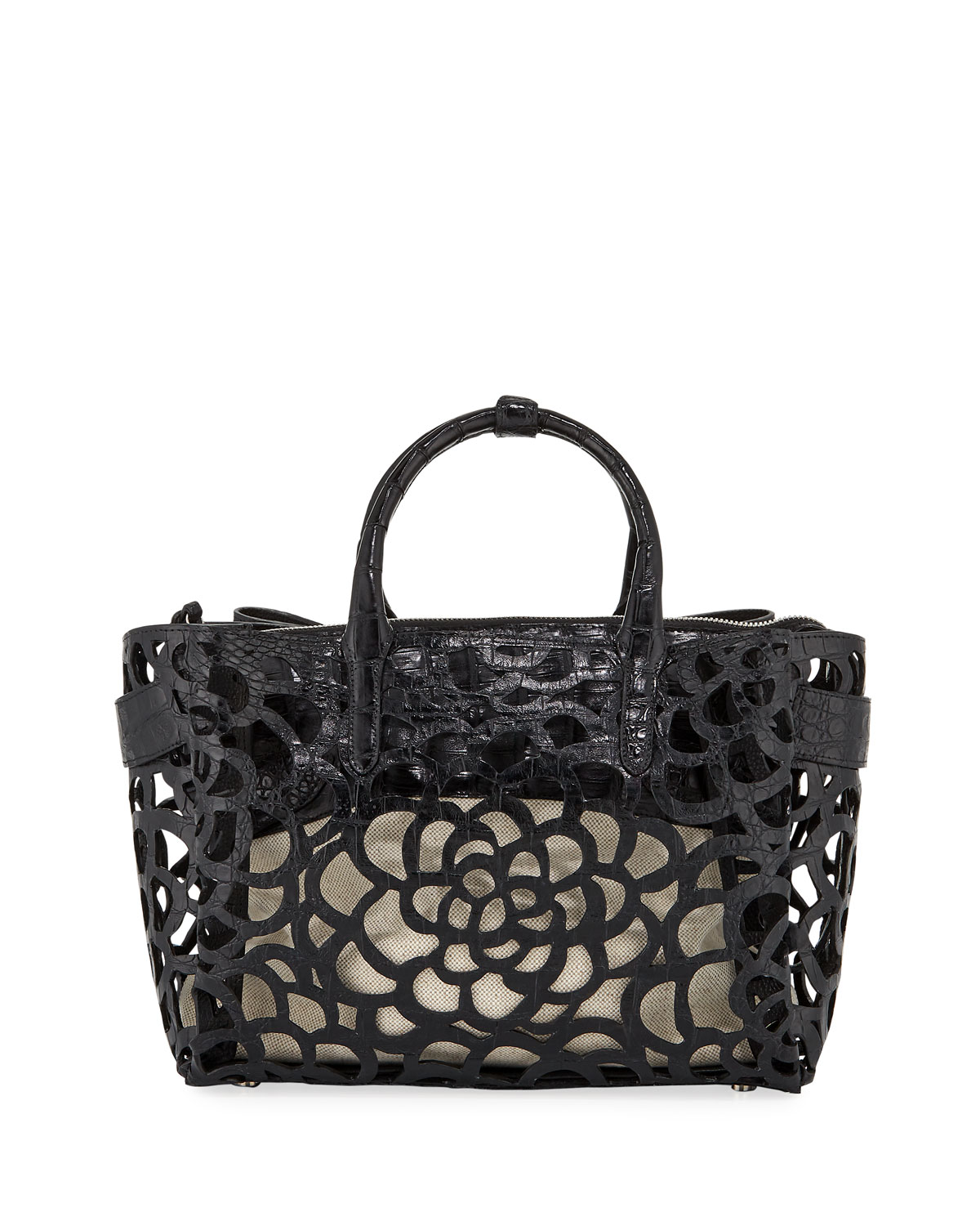 Nancy Gonzalez Limited-Edition Cristie Medium Camellia Croc Tote Bag