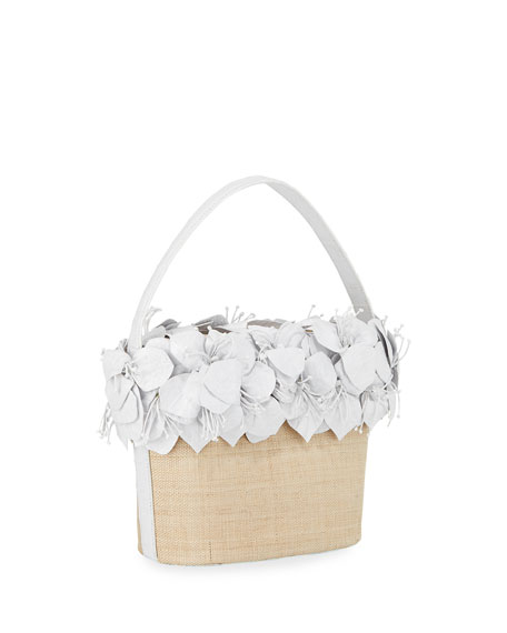 Image 3 of 4: Nancy Gonzalez Limited-Edition Floral Bucket Bag