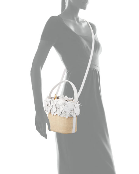 Image 4 of 4: Nancy Gonzalez Limited-Edition Floral Bucket Bag