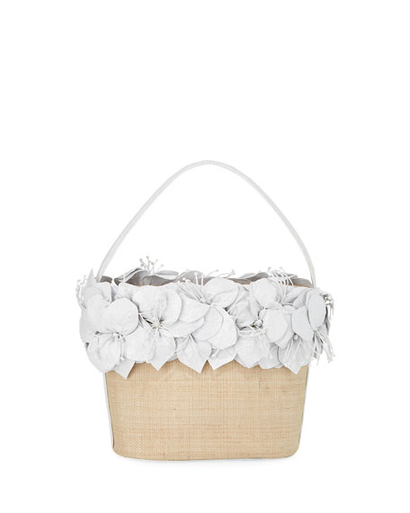 Image 1 of 4: Nancy Gonzalez Limited-Edition Floral Bucket Bag