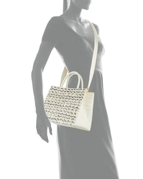 Image 4 of 4: Nancy Gonzalez Limited-Edition Emma Small Woven Tote Bag