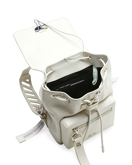 Off-White Diagonal Binder Leather Backpack