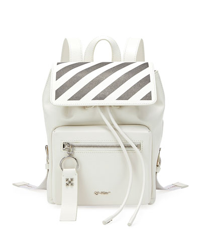 Diagonal Binder Leather Backpack