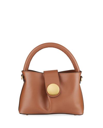 Malette Leather Top Handle Satchel Bag