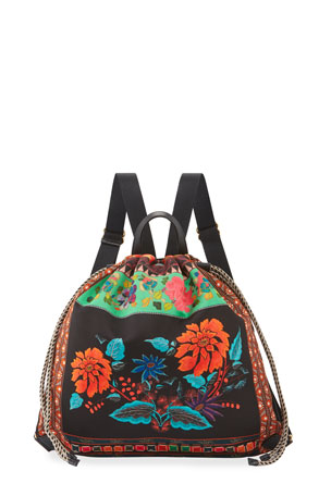 Etro Etro Sac Floral Printed Backpack