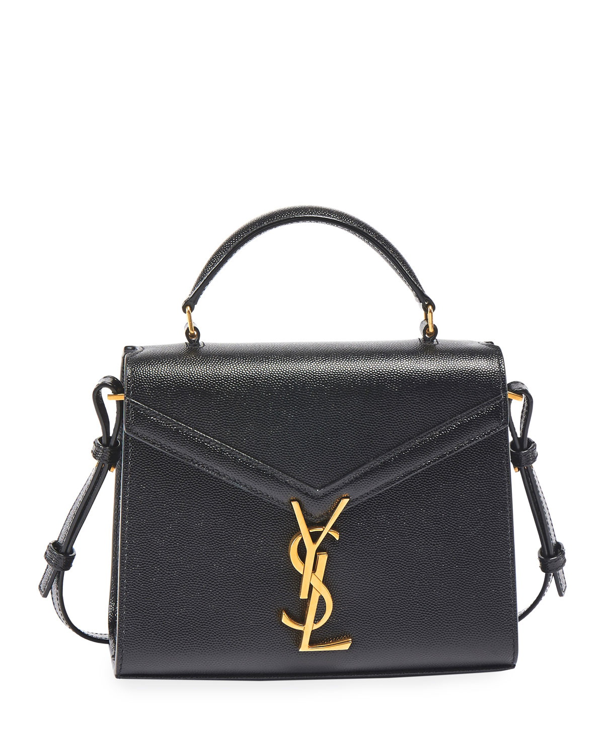 Cassandra Small Ysl Monogram Leather Top Handle Bag by Saint Laurent