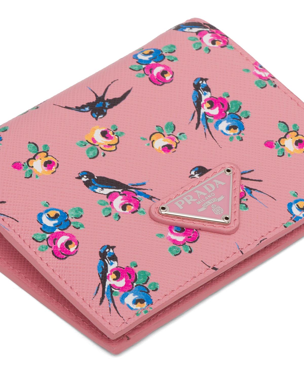 Bird & Flower French Wallet by Prada