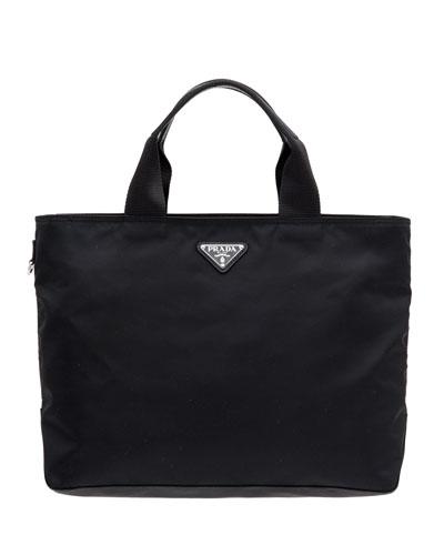 Nylon Tote Bag w/ Removable Crossbody Strap