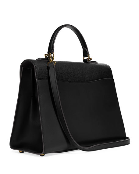 Coach 1941 Tabby Mixed Leather Top-Handle Bag