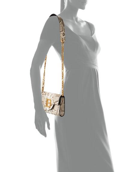 Balmain B Medallion Python Clutch Bag