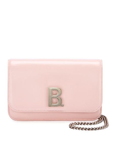 Balenciaga B Shiny Box Wallet On Chain  Bag