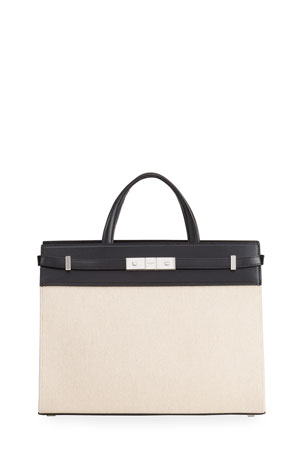 Saint Laurent Manhattan Small Canvas Tote Bag
