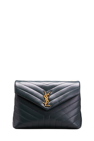 Saint Laurent Loulou Medium YSL Monogram Calf Shoulder Bag
