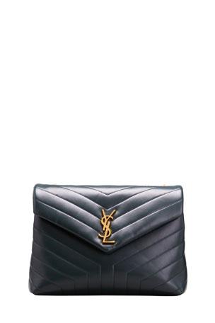 Saint Laurent Loulou Medium YSL Monogram Calf Shoulder Bag