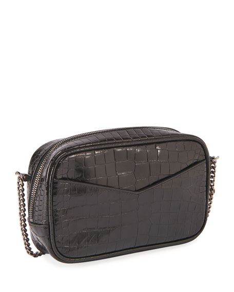 Image 3 of 3: Saint Laurent Lou Mini YSL Monogram Calf Camera Bag