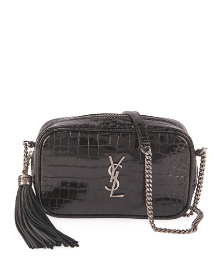 Image 1 of 3: Saint Laurent Lou Mini YSL Monogram Calf Camera Bag