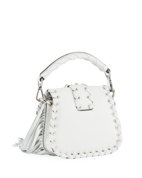 Image 3 of 4: Gedebe Alice Small Top-Handle Fringe Shoulder Bag