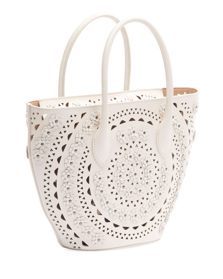 Image 2 of 3: ALAIA Latifa Mini Cuir Lux Tote Bag