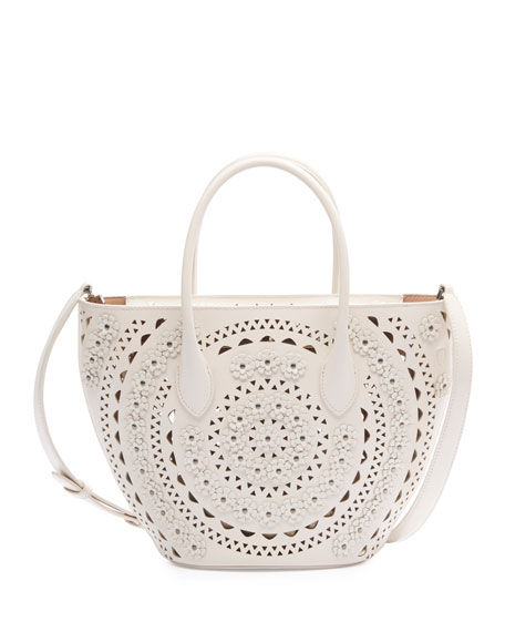 Image 1 of 3: ALAIA Latifa Mini Cuir Lux Tote Bag
