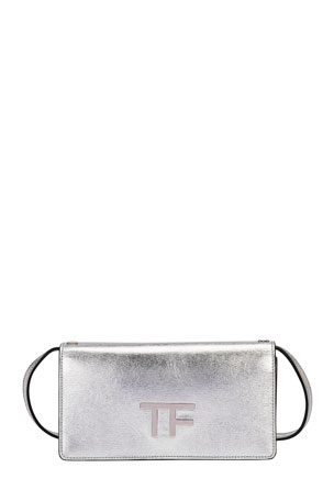 TOM FORD Palmellato Mini Metallic Clutch Bag