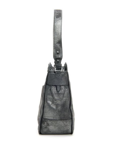 Frye Mel Metallic Leather Hobo Bag