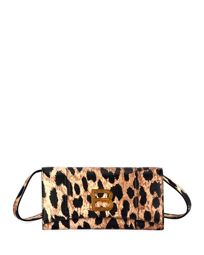 Hour Leopard-Print Medallion Crossbody Bag