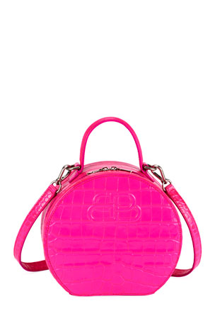 Balenciaga Vanity XS Mock-Croc Round Bag