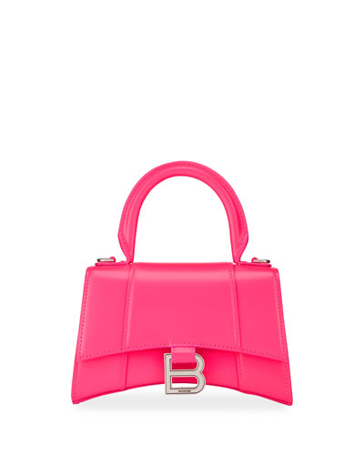 Hour XS Shiny Calf Top-Handle Bag