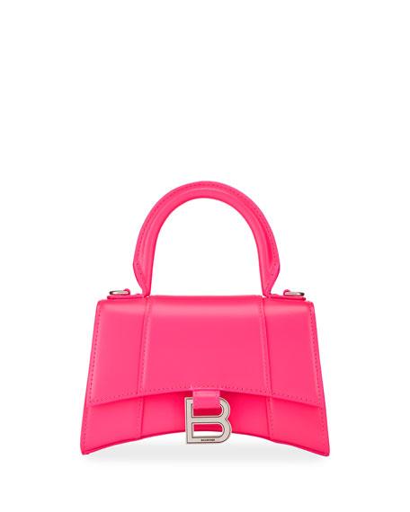 Balenciaga Hour XS Shiny Calf Top-Handle Bag
