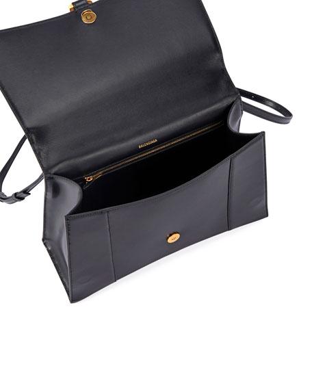 Balenciaga Hour Medium Leather Top-Handle Bag