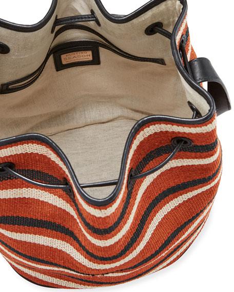 Hunting Season Large Striped Drawstring Bucket Bag