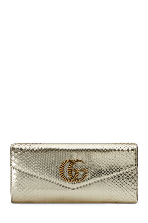 Gucci Broadway Evening Python Clutch Bag