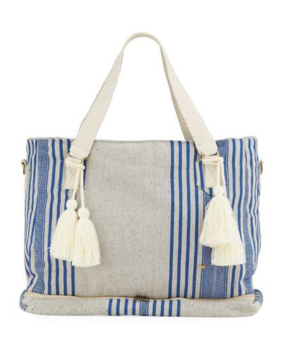 Striped Weekender Beach Bag