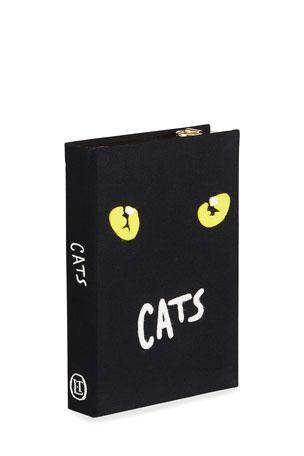 Olympia Le-Tan Cats Book Clutch Bag