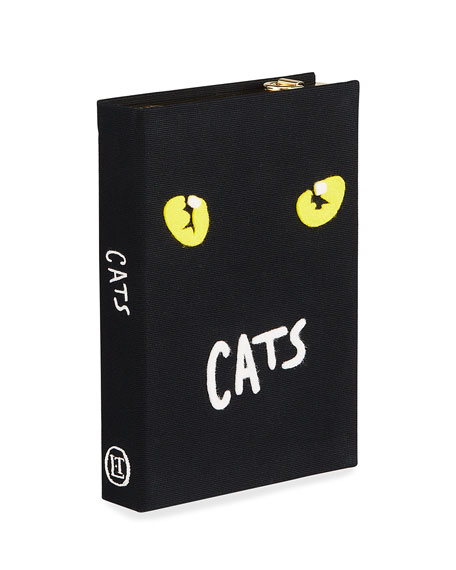 Image 1 of 4: Olympia Le-Tan Cats Book Clutch Bag
